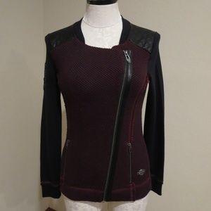 Harley Davidson sweatshirt jacket quilted shoulder